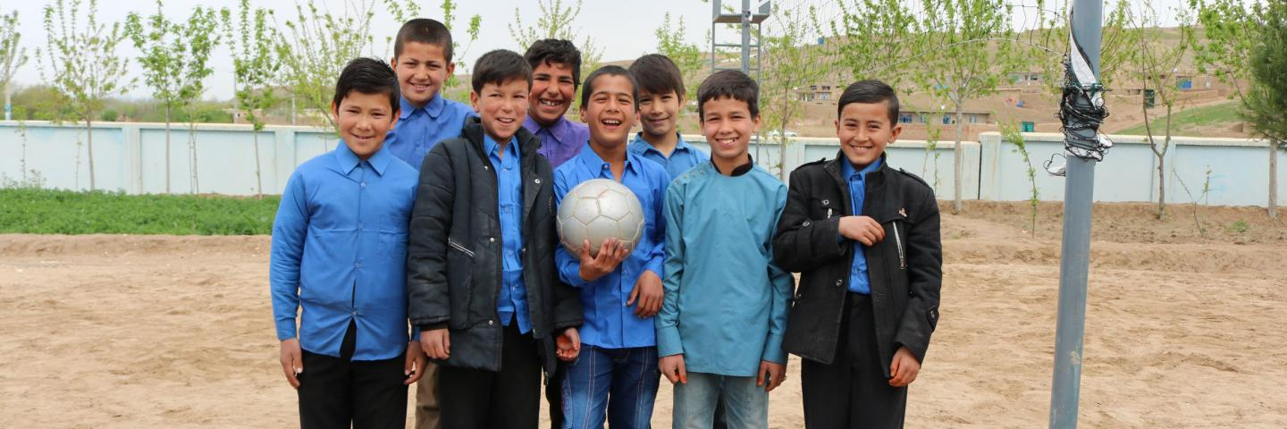 Hamza-with- his friends-in school-playground