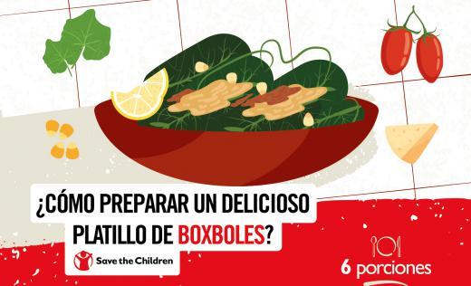 Illustration of boxbol food