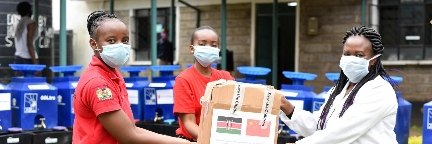 Distribution of Hygiene kits and PPE's to Lions Health Facility and Ruaraka Dispensary in Kenya