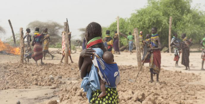 Turkana County in Northern Kenya, where women work until the day they give birth, then resume within days afterwards