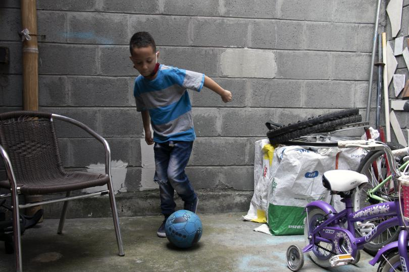Adrian loves to play soccer in his spare time.
