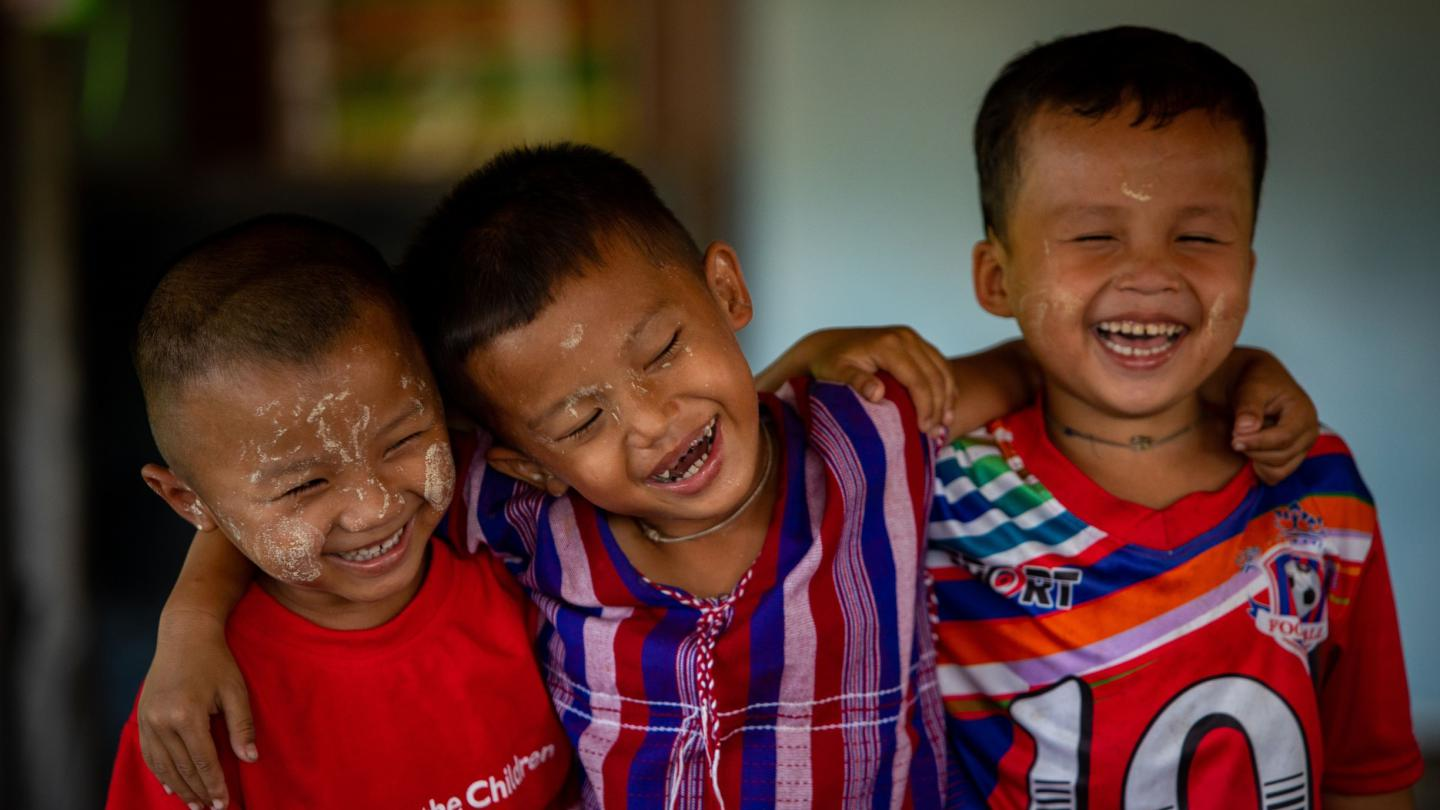 Children laughing
