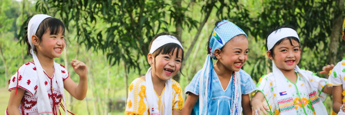 Girls in Kayin dresses 2 - Myanmar