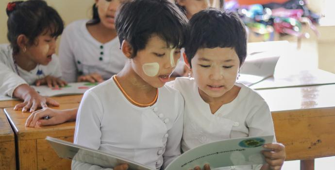 Children in the classroom - Myanmar