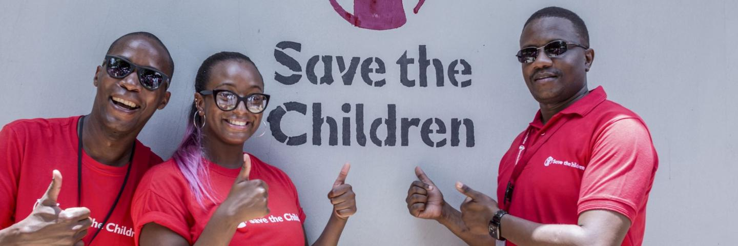 Save the children staff