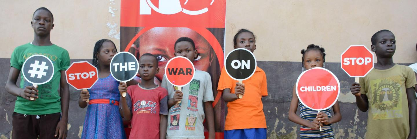 Stop the war on children campaign