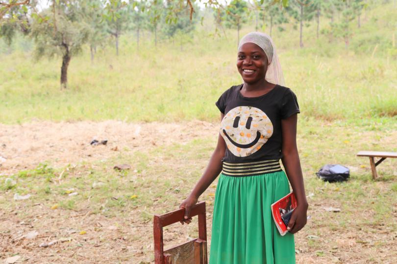 Lilian in the village