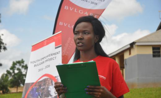 Anena Cynthia Marion campaigns against child marriage in northern Uganda. Immaculate Nalubyayi / Save the Children