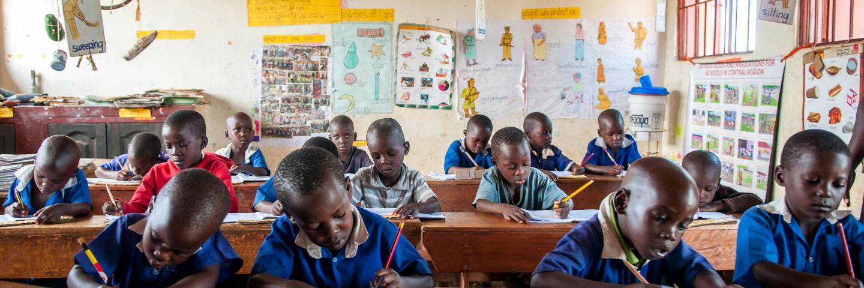 Children in a classrom.