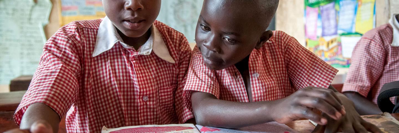 Girls at school in central Uganda