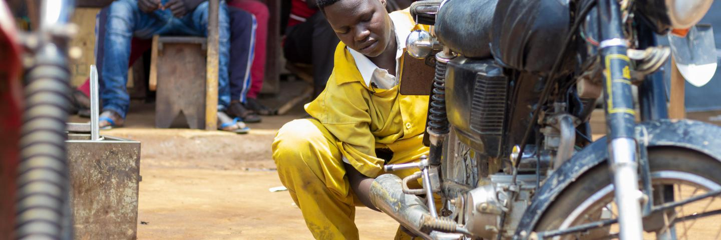 Stella has become the first female mechanic in her community