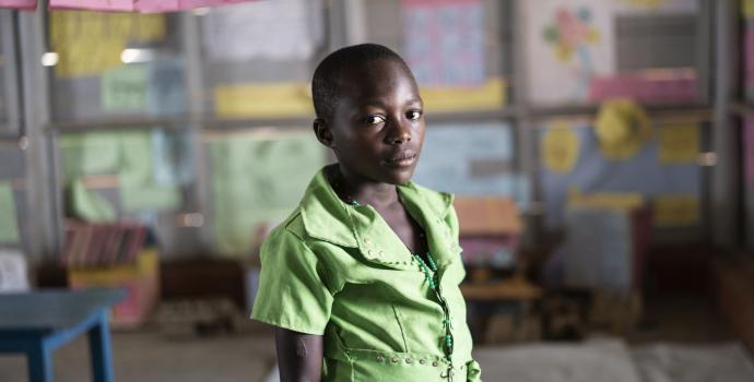 Destin at the Child Friendly Space. Frederik Lerneryd / Save the Children