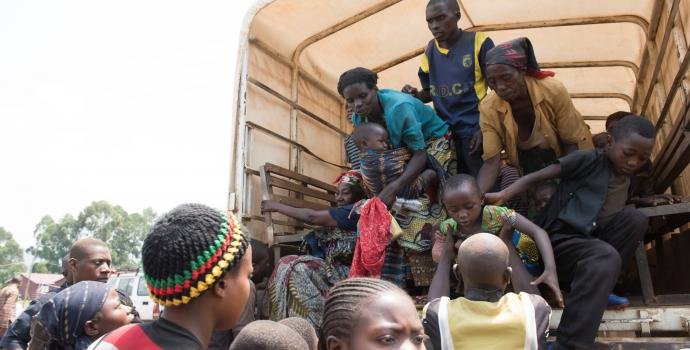 New arrivals into Uganda from eastern DRC. Hannah Maule-Ffinch / Save the Children