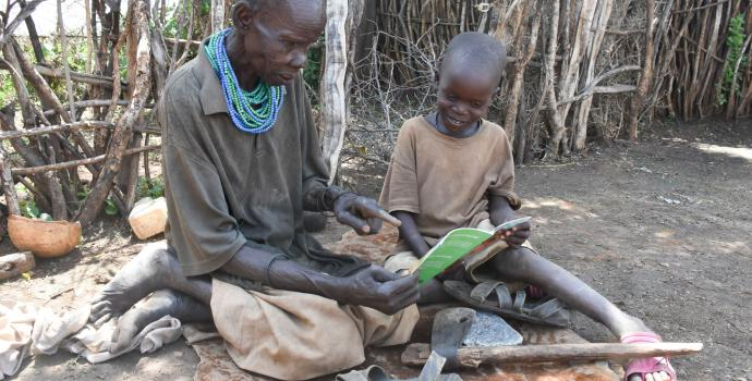 Home learning in Karamoja