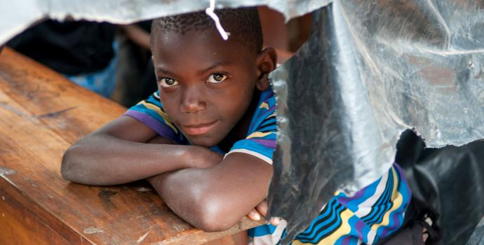 A young boy at school in central Uganda. Andrew Pacutho / Save the Children