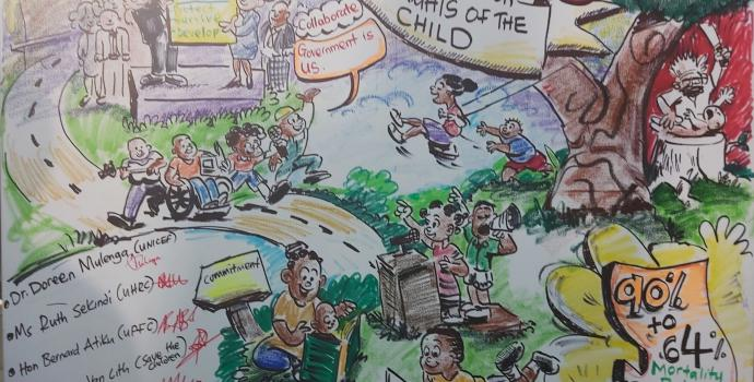 An illustration of 30 years of the CRC in Uganda