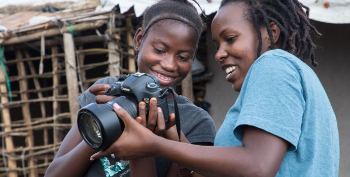 Helen* with photographer Esther Mbabazi