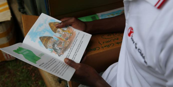 Story books for distribution in northern Uganda. Alun McDonald / Save the Children