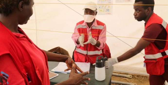 Ebola screening centre on the DRC-Uganda border. Alun McDonald / Save the Children