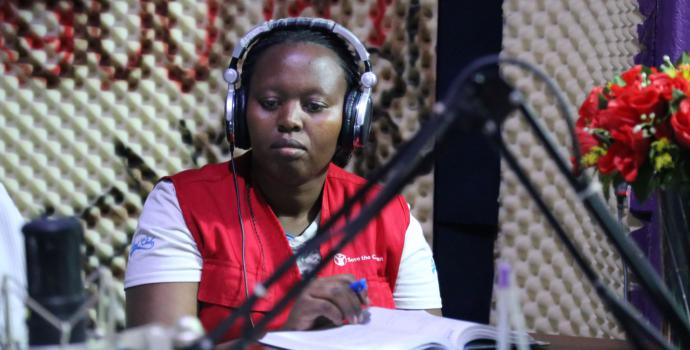 Save the Children staff in Uganda carry out radio talk shows to raise awareness of Ebola. Alun McDonald / Save the Children