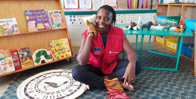 Save the Children staff filming lessons and health messages for children, to be broadcast on national TV while schools are closed. Alun McDonald / Save the Children