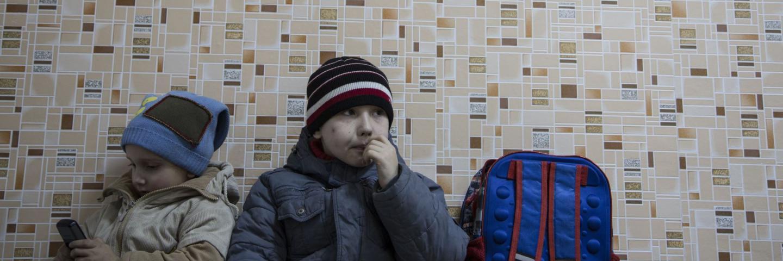 Children enjoy activities at a Child Friendly Space in Sloviansk, Eastern Ukraine