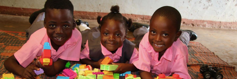 Children and building blocks