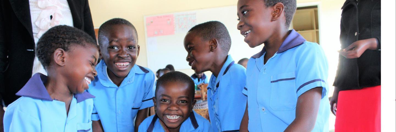 children smile at school
