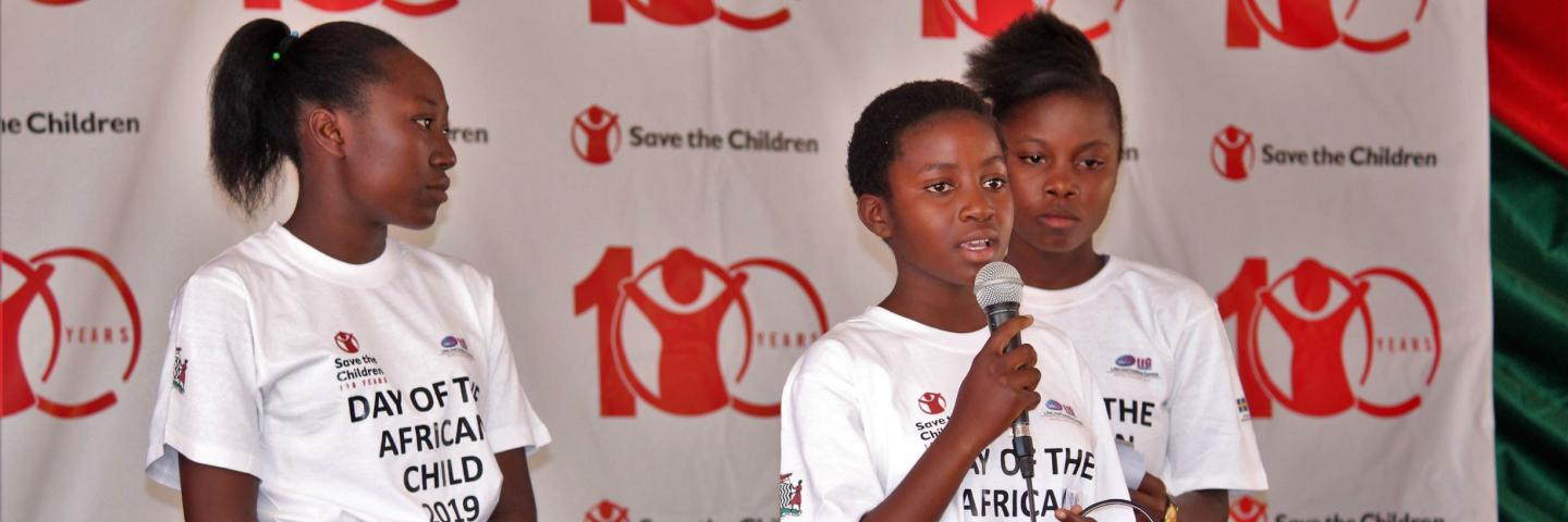 Speeches at the day of the African child 2019