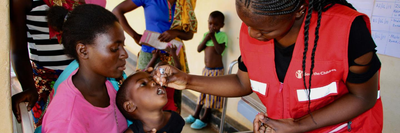 Save the children administer medicine