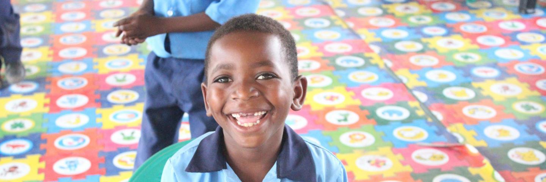 Child smiles at school